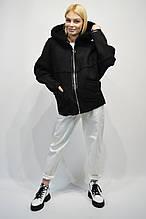 Куртка Дубленка Rr 2003 черная с капюшоном