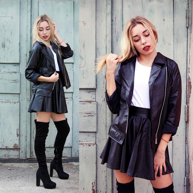Женская куртка косуха из эко кожи