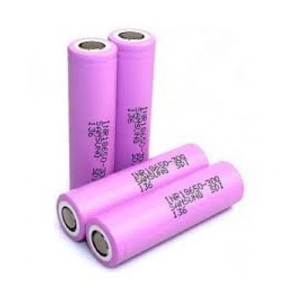 Высокотоковый аккумулятор батарейка Samsung 18650 4,2V 2550