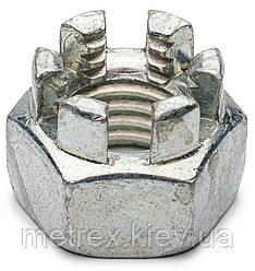 Гайка корончатая прорезная М16 DIN 935 нержавеющая сталь А2