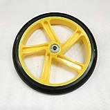 Колесо для самоката 200мм з підшипником АВЕС-7(жовтий), фото 2