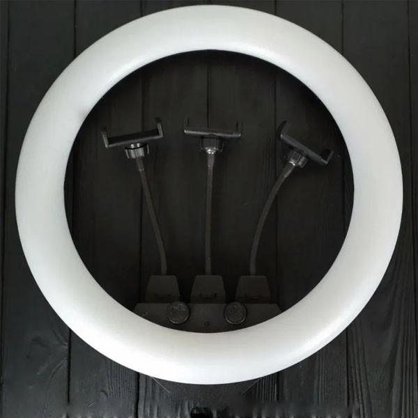 Кольцевая LED лампа ZB-F348 1 диаметром 45 см со штативом и пультом и тремя держателями