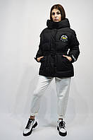Куртка-пуховик черная CLASNA 127