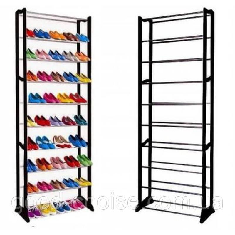 Полка для обуви на 30 пар Amazing Shoe Rack 51х24х140 см Черная