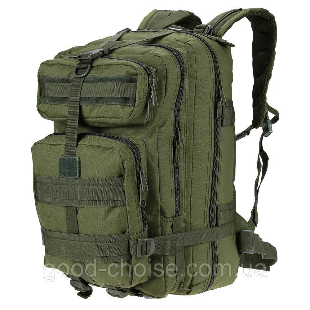 Армейский Рюкзак 45л Oxford 600D - штурмовой военный + Подарок! Зеленый (50х30х30 см)