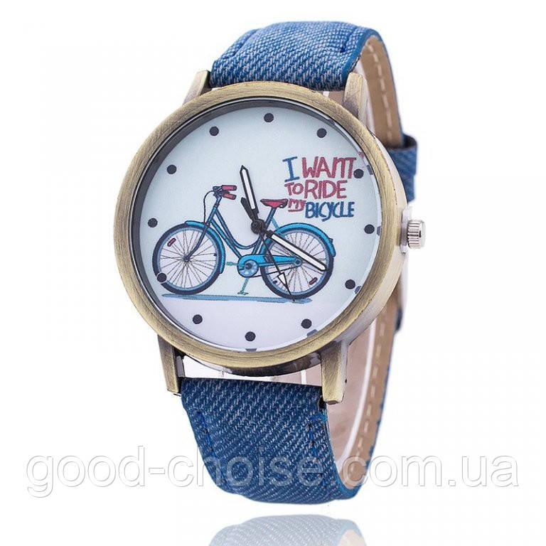 Женские наручные часы в ретро стиле Bike Watch + Подарок кошелек Baellerry !