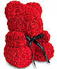 Мишка из Роз 25см + Подарок Роза в колбе / Мишка из цветов в подарочной коробке, фото 4