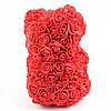 Мишка из Роз 25см + Подарок Роза в колбе / Мишка из цветов в подарочной коробке, фото 5