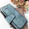 Женский замшевый кошелек клатч Baellerry Forever / Женское портмоне (19 х 10,5 х 2 см) Голубой, фото 6