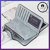 Женский замшевый кошелек клатч Baellerry Forever / Женское портмоне (19 х 10,5 х 2 см) Голубой, фото 7