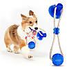 Игрушка для домашних животных с присоской + Подарок  Щетка душ для животных ! Dog toy rope PULL, фото 4