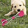 Игрушка для домашних животных с присоской + Подарок  Щетка душ для животных ! Dog toy rope PULL, фото 6
