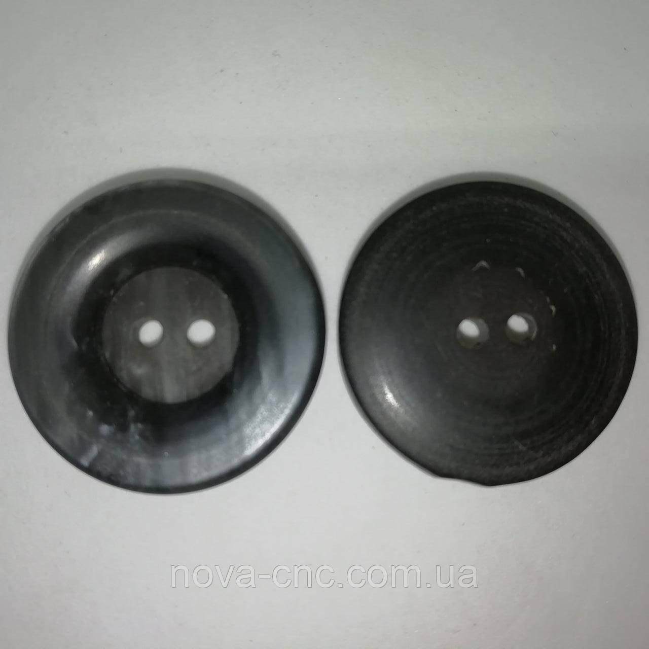 Пуговица для верхней одежды пластмассовая 25 мм Цвет темно-серый Упаковка 550 штук