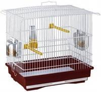 Прямоугольная клетка для мелких птиц GIUSY FERPLAST.39*26*37