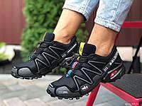 Женские кроссовки Salomon Speedcross 3 (черные) 9856