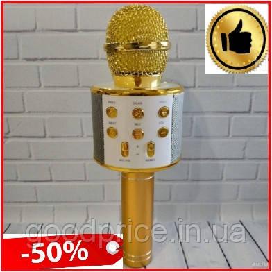 Беспроводной Bluetooth микрофон с динамиком для караоке Wster WS, портативный блютус караоке микрофон