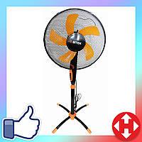 Распродажа! Бытовой напольный вентилятор с таймером, Bitek черно-оранжевый, электро-вентилятор для дома, офиса, фото 1