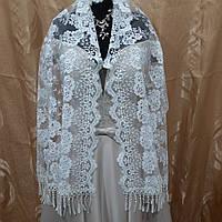 Нежный красивый нарядный Свадебный двухсторонний шарф цвета Айвори подходит в церковь на крестины и праздник