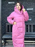 Зимняя длинная куртка M500 ягодный смузи
