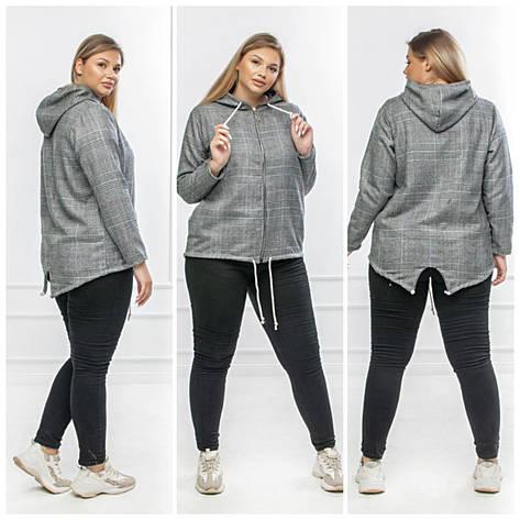 Куртка жіноча демісезонна, куртка, кофта на блискавці великих розмірів високої якості JIN, фото 2