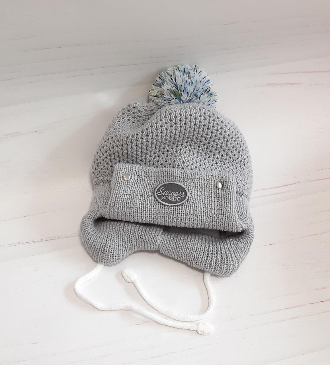 Вязаная шапочка 0-3мес