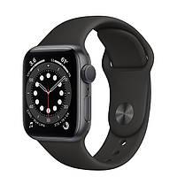 Apple Watch Series 6 GPS 44mm Space Gray Aluminum Case w. Black Sport B. (M00H3) [50384]