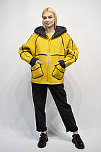 Куртка Дубленка Rr 2003 желтая с капюшоном