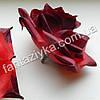 Головка искусственной розы (кардинал) бордовая 10см, фото 2