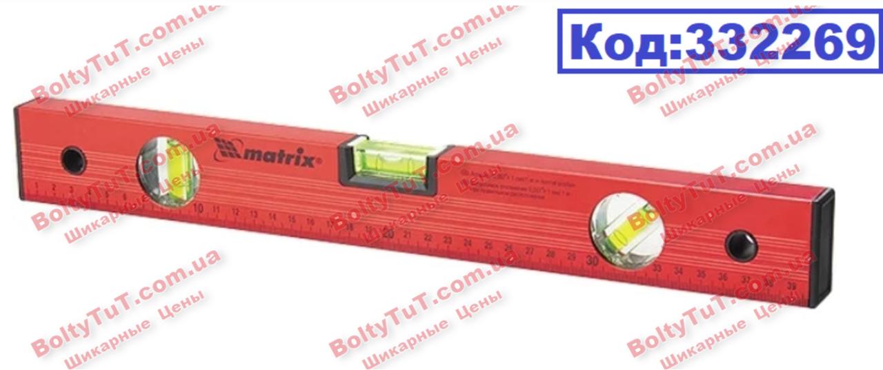 Уровень алюминиевый, 800 мм, 3 глазка, красный, линейка MTX (332269)