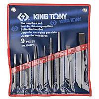 Выколотки в наборе  9 ед. в чехле (выколотки/зубила/ керны/ бородки) KING TONY 1009PR01 (Тайвань)