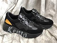 Кожаные женские кроссовки Kento 362 чер размеры 37,38,39, фото 1