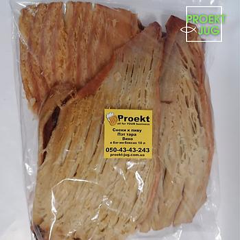 Филе кальмара (пласт) солено - сушеное в арахисовом масле 500 грамм, закуска к пиву(снек)