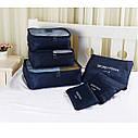 Набор темно-синих дорожных органайзеров Secret Pouch, фото 2