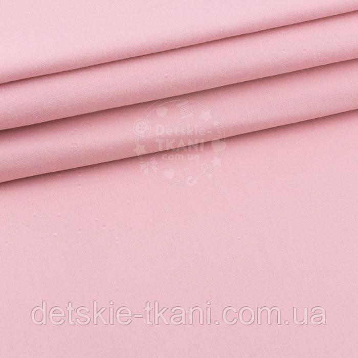 Однотонная фланель цвета розовой пудры, ширина 240 см