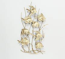 Настенный декор Аквариум металл золото 47*87*4см Гранд Презент 1019901
