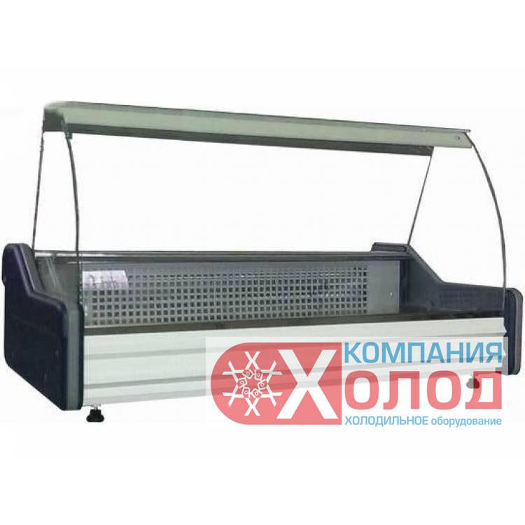 Настольная витрина холодильная Айстермо ВХСн 1.8 гнутое стекло