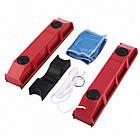 Щітка магнітна для миття скла з двох сторін Glider, червона, фото 3