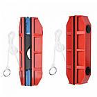 Щітка магнітна для миття скла з двох сторін Glider, червона, фото 4