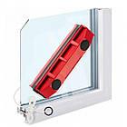 Щітка магнітна для миття скла з двох сторін Glider, червона, фото 5