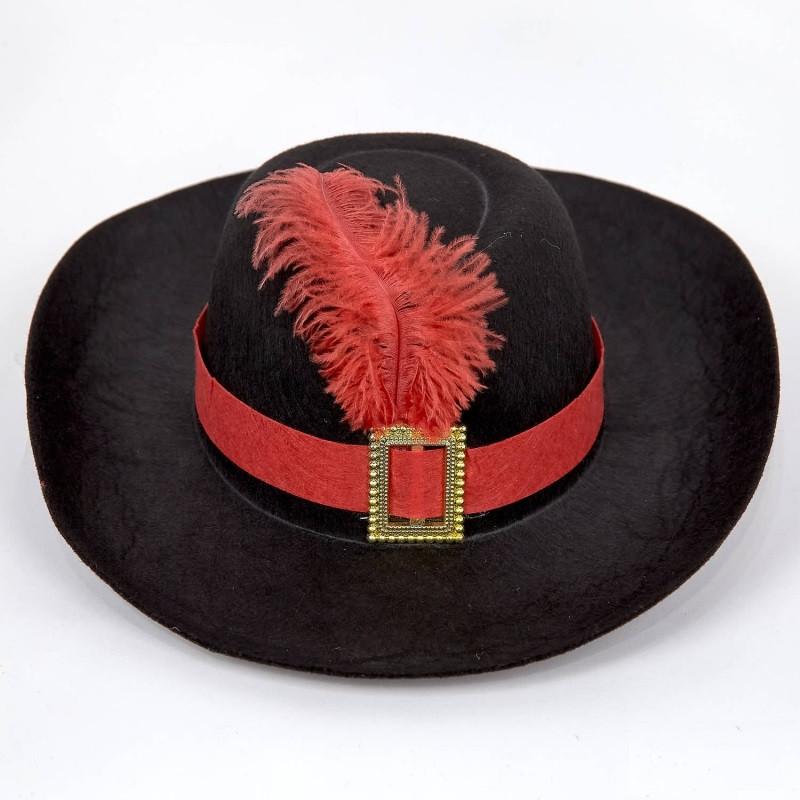 Шляпа Мушкетера черная маленькая, размер 52-54