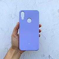 Чехол на Xiaomi Redmi Note 7 Silicone Case фиалковый силиконовый / для сяоми редми нот 7, ксяоми ноут ксиоми