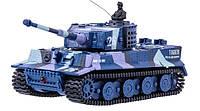 Танк микро р/у 1:72 Tiger со звуком ( хаки синий)