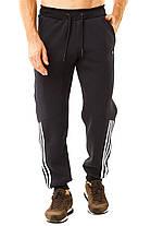 Теплые мужские штаны с белыми лампасами, фото 3