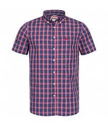 Мужская рубашка Lonsdale 113711 Red/White/Dark Blue