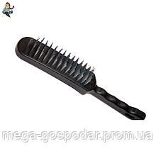 Щетка 6-ти рядная металлическая с пластиковой ручкой, 280мм