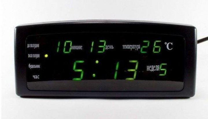 Часы настольные CX 868 с зеленой подсветкой