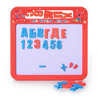 Доска 0185 магнитная азбука, 2 в 1