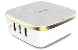Адаптер мережевий Ldnio A6704, 6USB, QC3.0, 7A, 35W, білий
