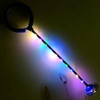 Дитяча світиться скакалка на одну ногу LED підсвічування Нейроскакалка синя зі світловим підставою