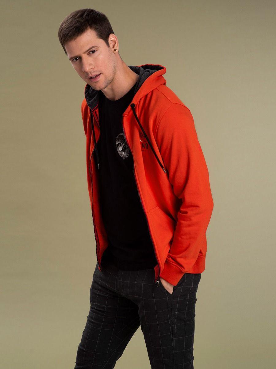 Мужской худи Volcano B-Peak с капюшоном оранжевого цвета